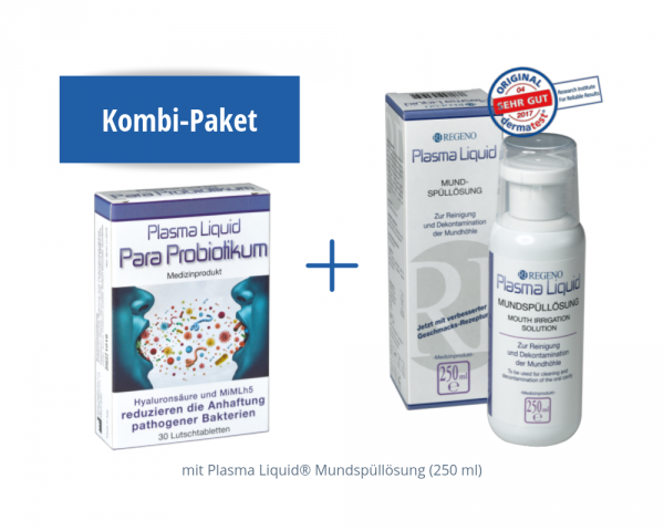 Combination package: Plasma Liquid® Mouthwash Solution and Para-probiotic