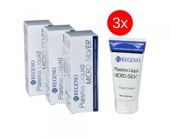 Sparpaket: Plasma Liquid® Micro Silver Face Cream